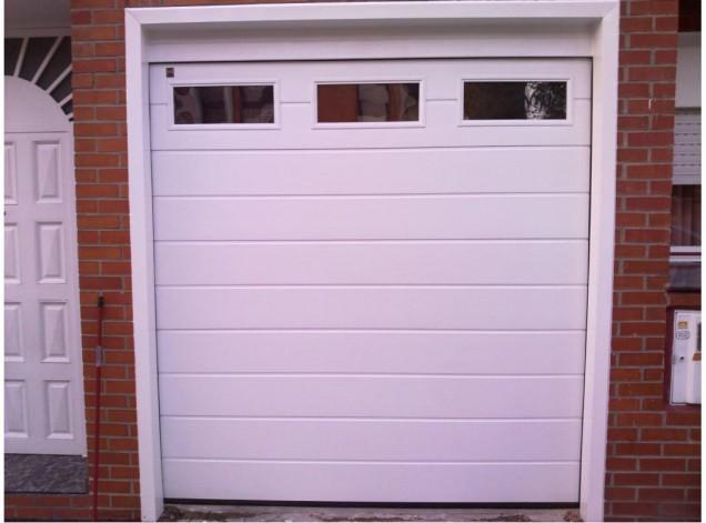puerta seccional automática en getafe - puertas de garaje